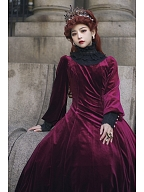 Custom Size Available Song of Past Vintage Velvet Dress OP by Resplendent Galaxy