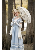 Custom Size Available Walk in The Clouds Empire Style Lolita Dress OP Long Version by Resplendent Galaxy