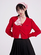 Short High Waist V-neck Knitted Cardigan by STRIKE A POSE