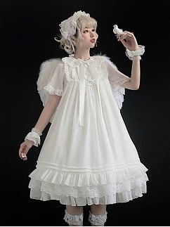The Republic Short Sleeves Lolita Dress OP by SEVEN BABY Lolita