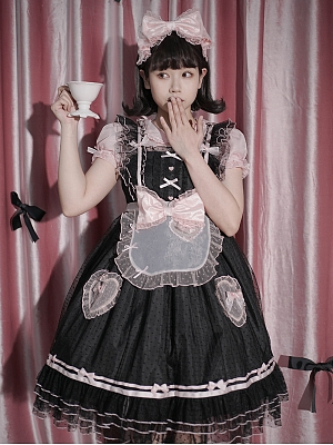 Sweetheart Sweet Lolita Apron by Seventh Doll
