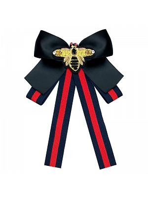Little Bee Striped Bow Pin Bow Tie by SENLX