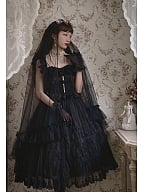 Streamer Back Years Elegant Lolita Dress JSK Full Set by Sweety Honey