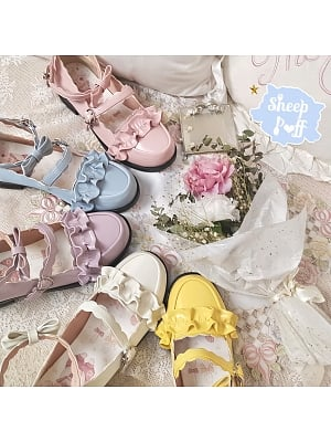 Round Head Lolita Shoes 5 Colors by Sheep Puff