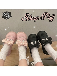 Chubby Round Head Lolita Shoes by Sheep Puff
