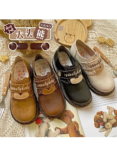 Big Head Bear TPR Sole Lolita Shoes by Sheep Puff