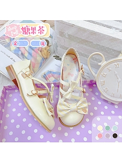 Candy Tea Round Toe Sweet Lolita Shoes by Sheep Puff