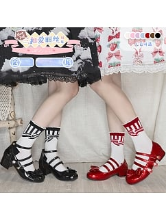 Alice Sisters Round Toe Three Buckles Sweet Lolita Shoes by Sheep Puff