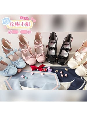 Miss Mary Sweet Lolita Shoes Heels by Sheep Puff