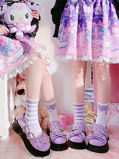 Sweet and Wild Y2K Punk Lolita Platforms Shoes by Sheep Puff