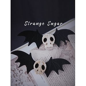 Bat Skull Hair Clip by Strange Sugar