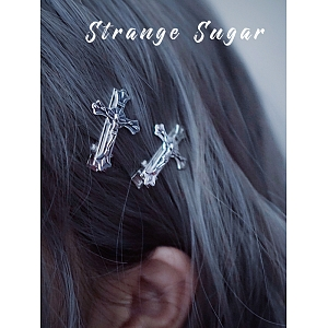 Gothic Cross Hair Clip by Strange Sugar