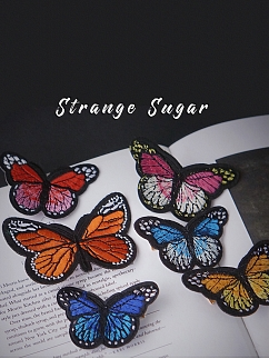 Embroidery Butterfly Hair Clip by Strange Sugar
