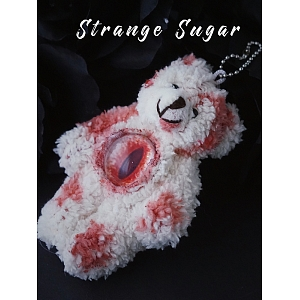 Bloody Bear Hanging Doll by Strange Sugar