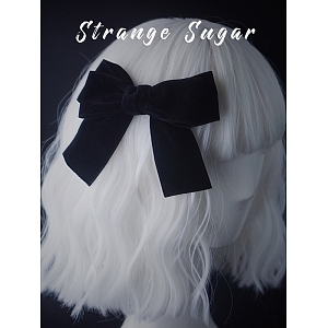 Black Velvet Knot Hair Clip by Strange Sugar