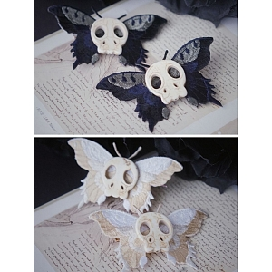 Butterfly Skull Hair Clip by Strange Sugar