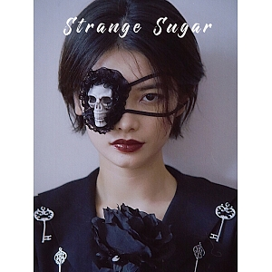 Black Lace Skull Patch by Strange Sugar