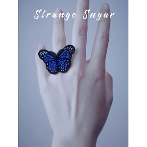 Embroidery Butterfly Ring by Strange Sugar