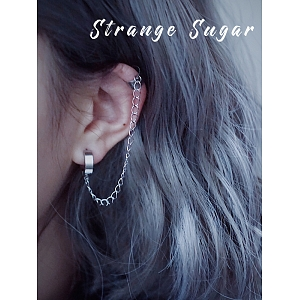 Single Silver Ear Ring/ Clip by Strange Sugar