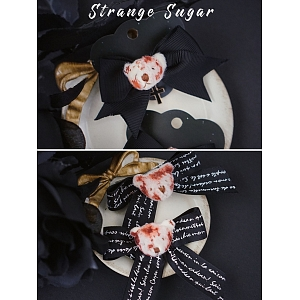 Bloody Bear Knot Hair Clip by Strange Sugar