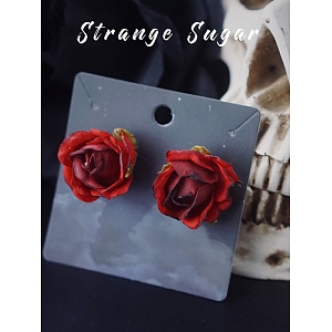 Burning Rose Ear Stud by Strange Sugar
