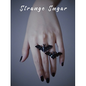 Bat Metal Ring by Strange Sugar