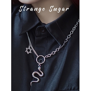 Silver Snake Necklace by Strange Sugar