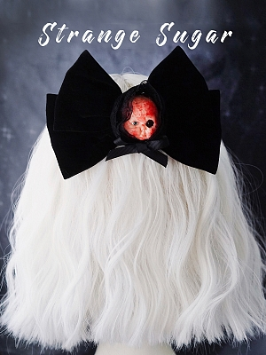 Handmade Halloween Bloody Doll Big Velvet Bowknot Hairclip by Strange Sugar