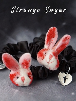 Handmade Bloody Bunny Hairrope by Strange Sugar