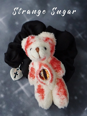 Handmade Bloody Teddy Hairrope by Strange Sugar