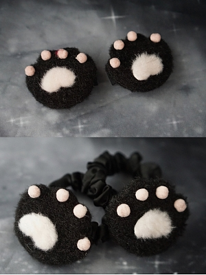 Handmade Cat Paw Hairclip / Hairrope by Strange Sugar