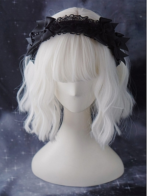 Handmade Dark Gothic Subculture Lace KC Decorated with Small Bowknot by Strange Sugar