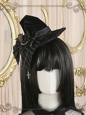 Little Witch Elegant Velvet Lolita Witch Hat by Star Box