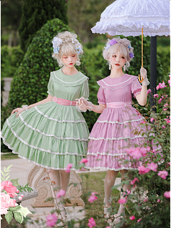 The Morning of Marcy Tiered Skirt Lolita Dress OP by Sugar Marcy Lolita
