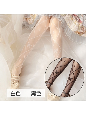 Butterfly Lolita Thin Overknee Stockings by Stellar Winds of the Universe
