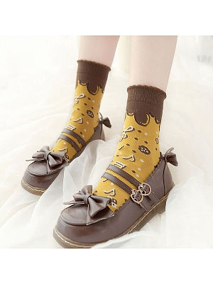 Symphonic Cookie Lolita Knitted Socks by Stellar Winds of the Universe