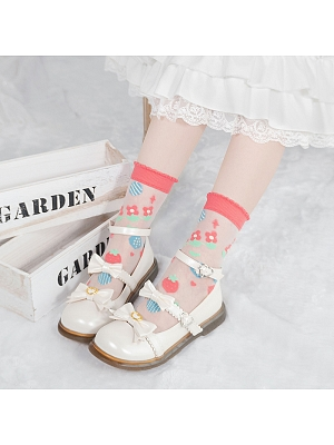 Picnic Time Lolita Cute Lace Socks  by Stellar Winds of the Universe