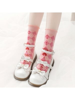Penumbra Lunar Eclipse Lolita Knitted Socks by Stellar Winds of the Universe