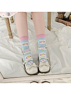 Peach Carnival Lolita Cute Knitted Socks by Stellar Winds of the Universe