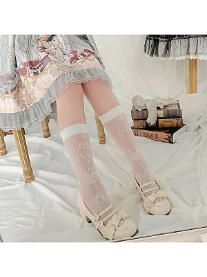 Strawberry Heart Lolita Stockings by Stellar Winds of the Universe