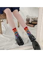 Showa Era Lolita Cute Knitted Socks by Stellar Winds of the Universe