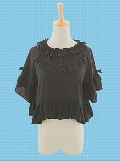 Night Flying Chiffon Lolita Blouse by Stellar Winds of the Universe