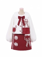 Teddy Embroidery Lolita Set Overall Dress / Coat by To Alice