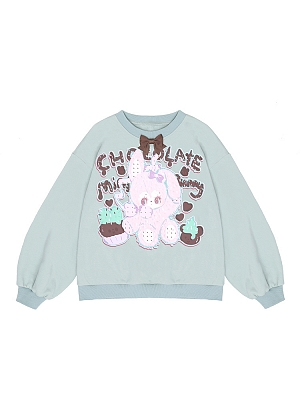 Barney Cake Sweet Prints front Sweatshirt by To Alice