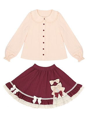 Little Red Riding Hood Lolita Set Skirt / Shirt by To Alice