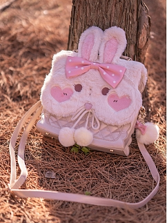 Creme Bunny or Teddy Lolita Crossbody Bag by To Alice