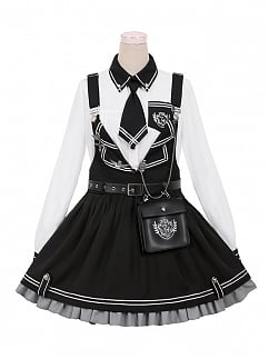 Ordnance Girl Military Lolita Overall Dress II Set by To Alice