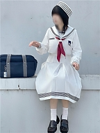 Girl and Sailor Showa JK Uniform Top / Skirt by To Alice