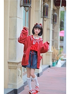 Bunny Ears Sailor Collar Cardigan by To Alice
