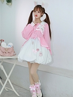 Plush Bunny Ears Bowknot Crossbody Bag by To Alice